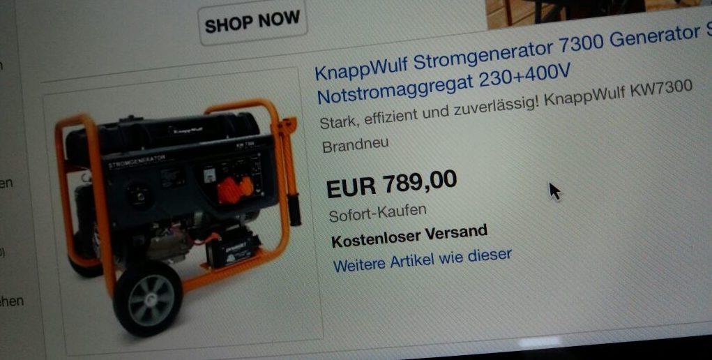 Stromgenerator für Schweißer-Ausbildungsbetrieb benötigt